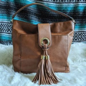 Mossimo Boho Shoulder Bag with Fringe Tassels